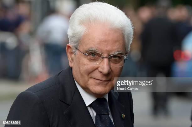 Sergio Mattarella attends the inauguration of the new headquarters of Giovanni Agnelli Foundation