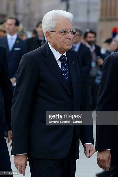Sergio Mattarella during the National Unity Day and Armed Forceson November 4 2016 in Rome Italy
