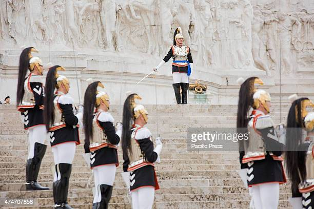 Sergio Mattarella, President of Italian Republic, celebrates the 100th anniversary from the entrance of the Italy in the First World War, at the...