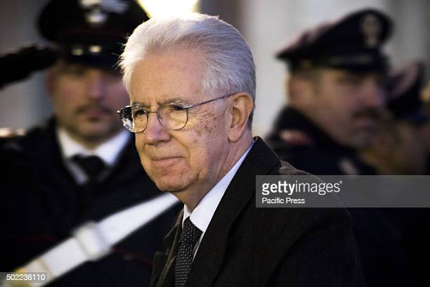 Sergio Mattarella President of the Italian Republic at the Quirinale Palace during the traditional ceremony of the exchange of end of year wishes...