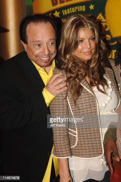 Sergio Mendes and Fergie of Black Eyed Peas during Leblon Cachaca Presents The Peapod: A Concert Benefit with Black Eyed Peas - Red Carpet at Henry...