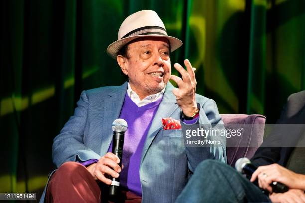 Sergio Mendes speaks at The GRAMMY Museum on March 11 2020 in Los Angeles California