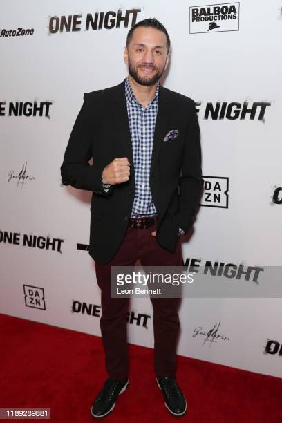 "Sergio Mora attends Premiere Of ""One Night: Joshua Vs. Ruiz"" at Writers Guild Theater on November 21, 2019 in Beverly Hills, California."
