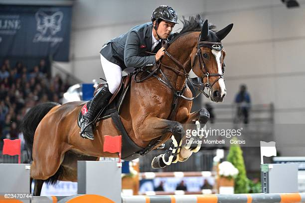 Sergio of Spain rides Arrayan during the Longines FEI World Cup Jumping Verona 2016 on November 13 2016 in Verona Italy