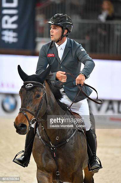 Sergio of Spain rides Unicstar de l'Aumone during the FEI Longines CSI5* World Cup Small Tour By BMW Jumping Verona 2016 on November 10 2016 in...