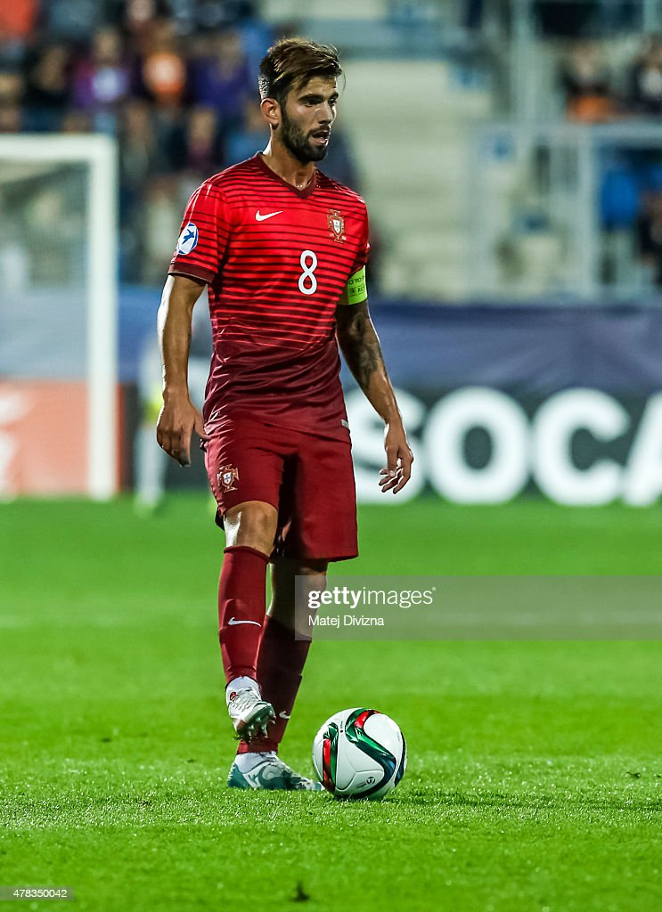 Sergio Oliveira of Portugal in action during UEFA U21 European Championship Group B match between Portugal and Sweden at Mestsky Fotbalovy Stadium on June 24, 2015 in Uherske Hradiste, Czech Republic.
