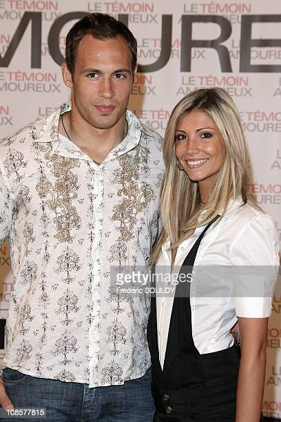 Sergio Parisse and Alexandra Rosenfeld in Paris France on May 12 2008