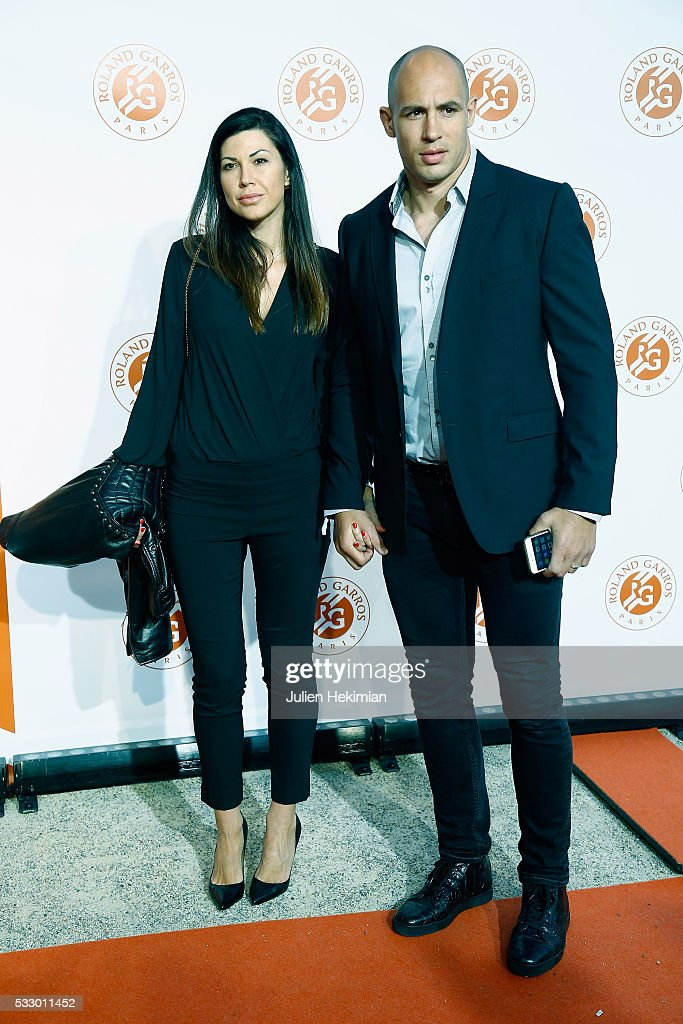 Sergio Parisse and his wife attend the Roland Garros Players' Party at Grand Palais on May 19, 2016 in Paris, France.