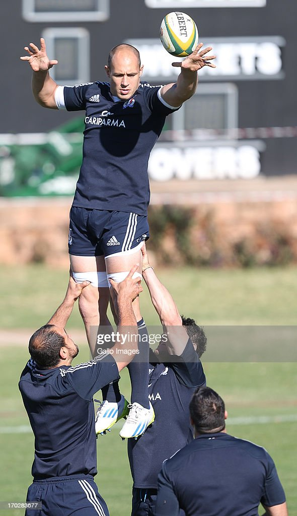 Sergio Parisse (captain) of Italy during the Italy training session at Northwood School on June 10, 2013 in Durban, South Africa.