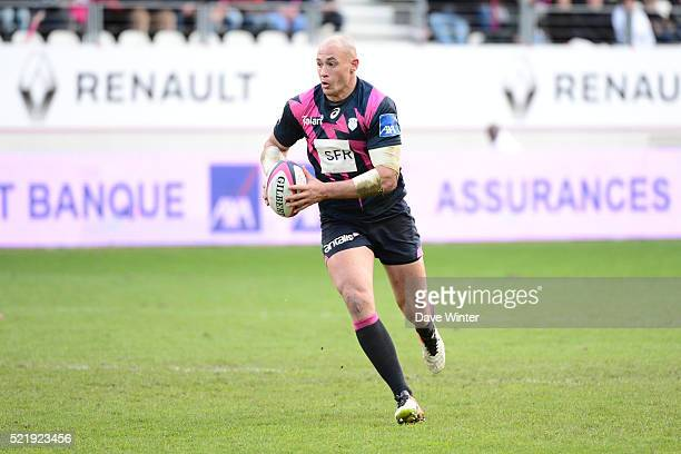 Sergio Parisse of Stade Francais Paris during the French Top 14 rugby union match between Stade Francais Paris and Montpellier at Stade JeanBouin on...