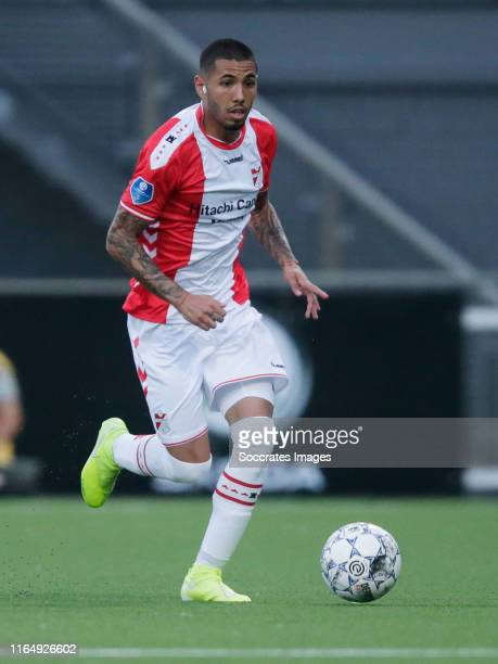 Sergio Pena of FC Emmen during the Dutch Eredivisie match between FC Emmen v PEC Zwolle at the De JENS Vesting on August 30 2019 in Emmen Netherlands