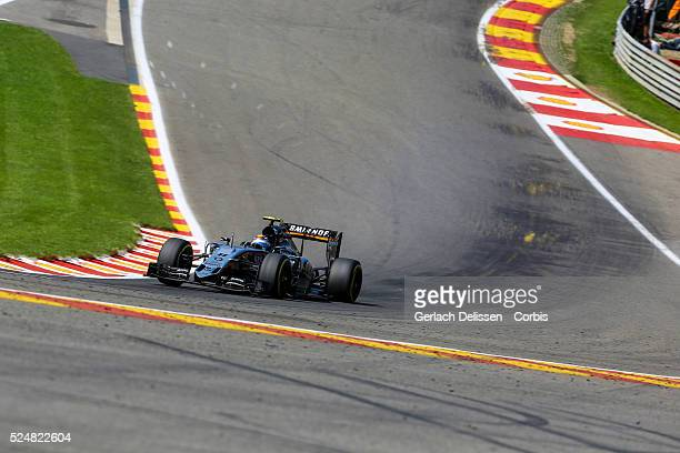 Sergio Perez driving for the Sahara Force India F1 Team in action during the race of the 2015 Formula 1 Shell Belgian Grand Prix at Circuit de...