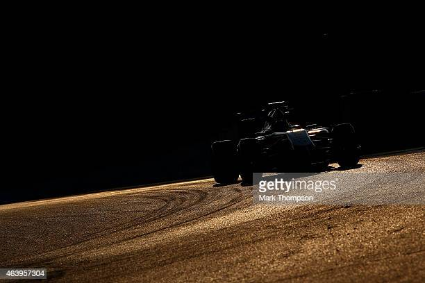 Sergio Perez of Mexico and Force India drives during day two of Formula One Winter Testing at Circuit de Catalunya on February 20 2015 in Montmelo...
