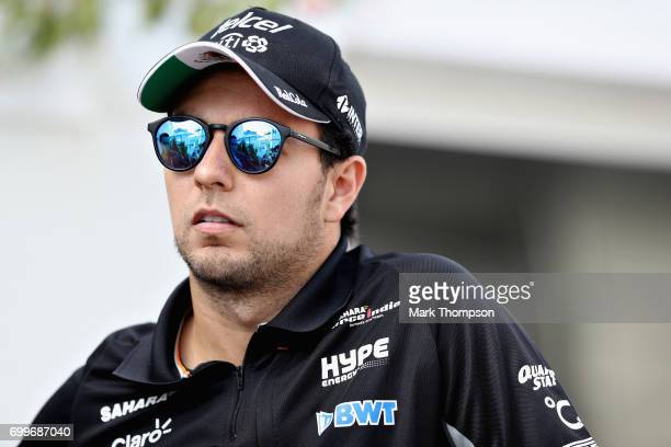 Sergio Perez of Mexico and Force India during previews ahead of the European Formula One Grand Prix at Baku City Circuit on June 22 2017 in Baku...