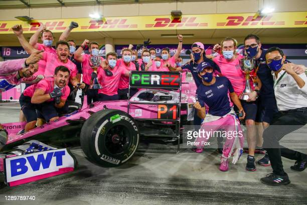 Sergio Perez of Mexico and Racing Point during the F1 Grand Prix of Sakhir at Bahrain International Circuit on December 06, 2020 in Bahrain, Bahrain.