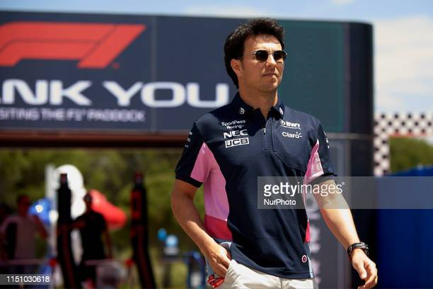 Sergio Perez of Mexico and Racing Point RP19 Mercedes during the Pirelli GP de France 2019 at Circuit Paul Ricard on June 20, 2019 in Le Castellet,...