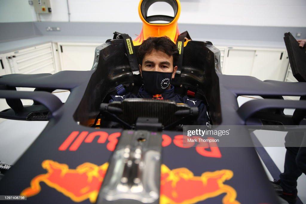 Sergio Perez Visits Red Bull Racing Factory : News Photo