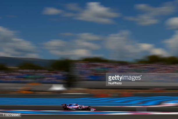 Sergio Perez of Mexico driving the Racing Point RP19 Mercedes during the Pirelli GP de France 2019 at Circuit Paul Ricard on June 22, 2019 in Le...