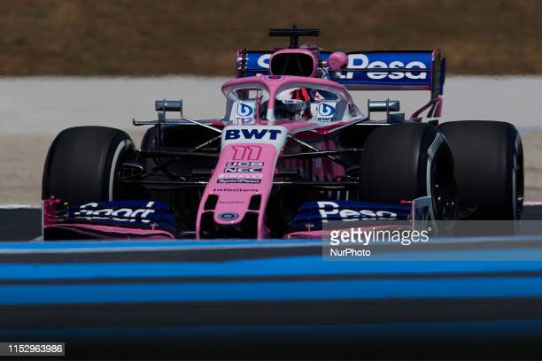 Sergio Perez of Mexico driving the Racing Point RP19 Mercedes during the Pirelli GP de France 2019 at Circuit Paul Ricard on June 21, 2019 in Le...