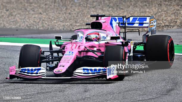 Sergio Perez of Mexico driving the Racing Point RP20 Mercedes during the Formula One Grand Prix of Styria at Red Bull Ring on July 12 2020 in...