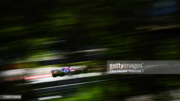 Sergio Perez of Mexico driving the Racing Point RP20 Mercedes on track during practice for the F1 Grand Prix of Styria at Red Bull Ring on July 10,...