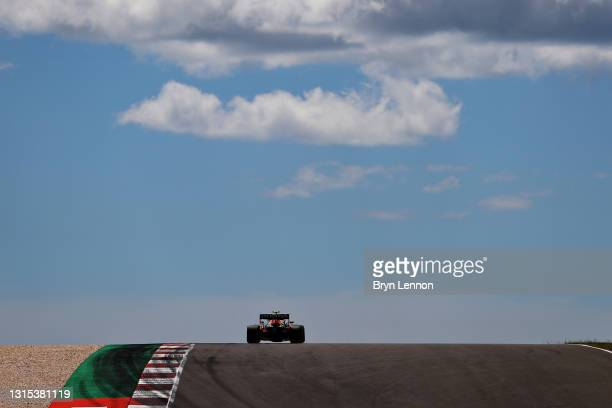 Sergio Perez of Mexico driving the Red Bull Racing RB16B Honda on track during practice ahead of the F1 Grand Prix of Portugal at Autodromo...