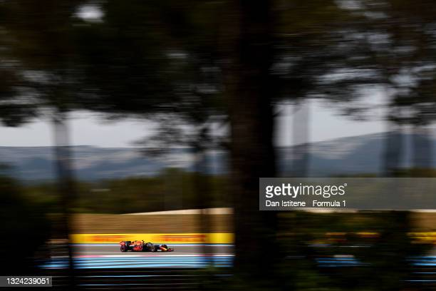 Sergio Perez of Mexico driving the Red Bull Racing RB16B Honda on track during practice ahead of the F1 Grand Prix of France at Circuit Paul Ricard...