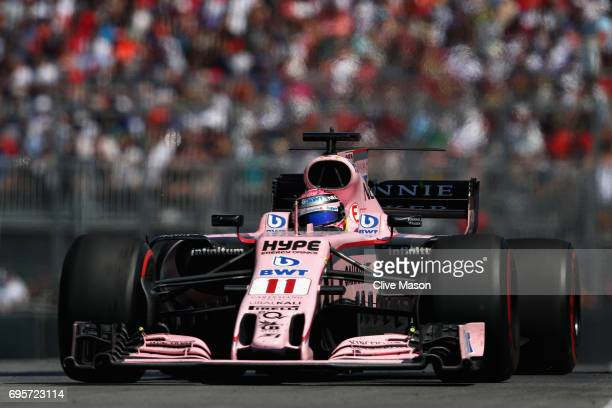 Sergio Perez of Mexico driving the Sahara Force India F1 Team VJM10 on track during the Canadian Formula One Grand Prix at Circuit Gilles Villeneuve...