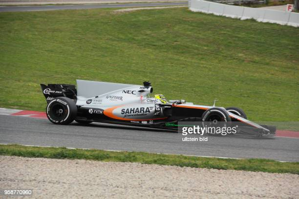Sergio Perez, Sahara Force India F1, formula 1 GP, Test Barcelona, Spanien,