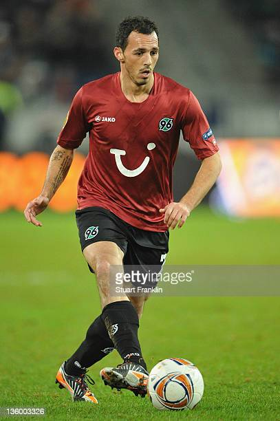 Sergio Pinto of Hannover in action during the UEFA Europa League match between Hannover 96 and FC Vorskla Poltava at AWD Arena on December 15, 2011...