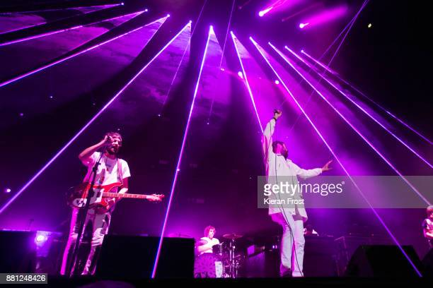 Sergio Pizzorno and Tom Meighan of Kasabian performs at the 3Arena on November 28, 2017 in Dublin, Ireland.