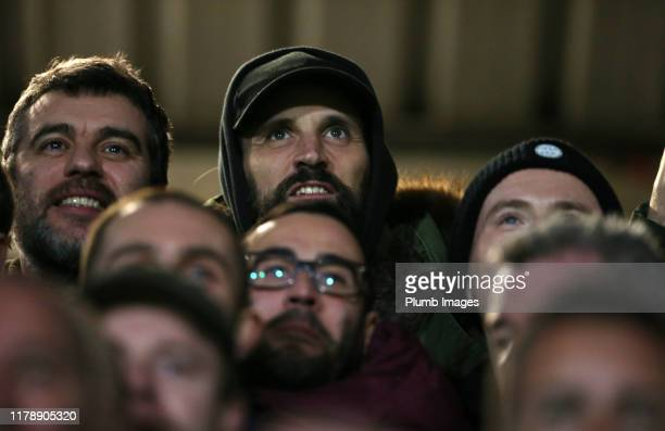 Sergio Pizzorno from Kasabian is in attendance during the Carabao Cup Round of 16 match between Burton Albion and Leicester City at Pirelli Stadium...