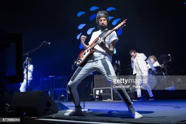 Sergio Pizzorno from Kasabian performs at Le Zenith on November 11 2017 in Paris France
