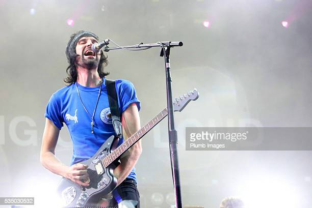 Sergio Pizzorno of Kasabian performs at King Power Stadium on May 28th 2016 in Leicester United Kingdom
