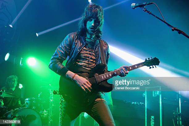 Sergio Pizzorno of Kasabian performs at Vic Theatre on April 2 2012 in Chicago Illinois