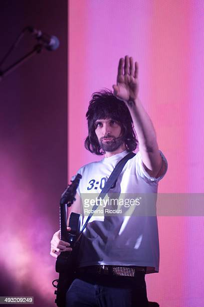 Sergio Pizzorno of Kasabian performs on stage at Alhambra Theatre on May 22 2014 in Dunfermline United Kingdom