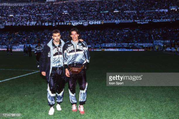 Sergio PORRINI and Moreno TORRICELLI of Juventus during the UEFA Cup Final second leg match between Juventus Turin and Parma at Stadium San Siro...