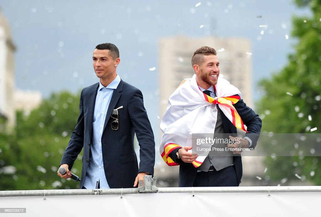 Real Madrid Celebrate After Victory In The Champions League Final : News Photo