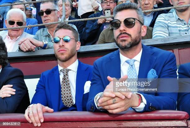 Sergio Ramos and Rene Ramos attend a bullfighting of San Isidro Fair at Las Ventas bullring at Las Ventas Bullring on May 16 2018 in Madrid Spain