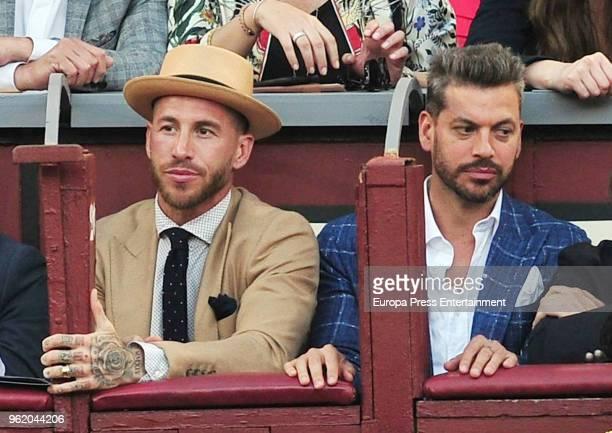 Sergio Ramos and Rene Ramos attend San Isidro Fair at Las Ventas Bullring on May 23 2018 in Madrid Spain