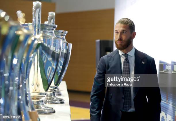 Sergio Ramos at Real Madrid Tribute and Farewell to Sergio Ramos on June 17, 2021 in Madrid, Spain.