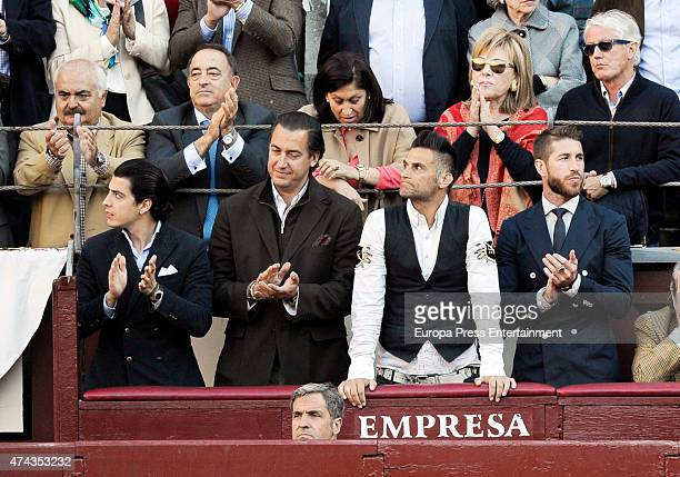 Sergio Ramos attends bullfighting during San Isidro Fair at Las Ventas Bullring on May 21 2015 in Madrid Spain