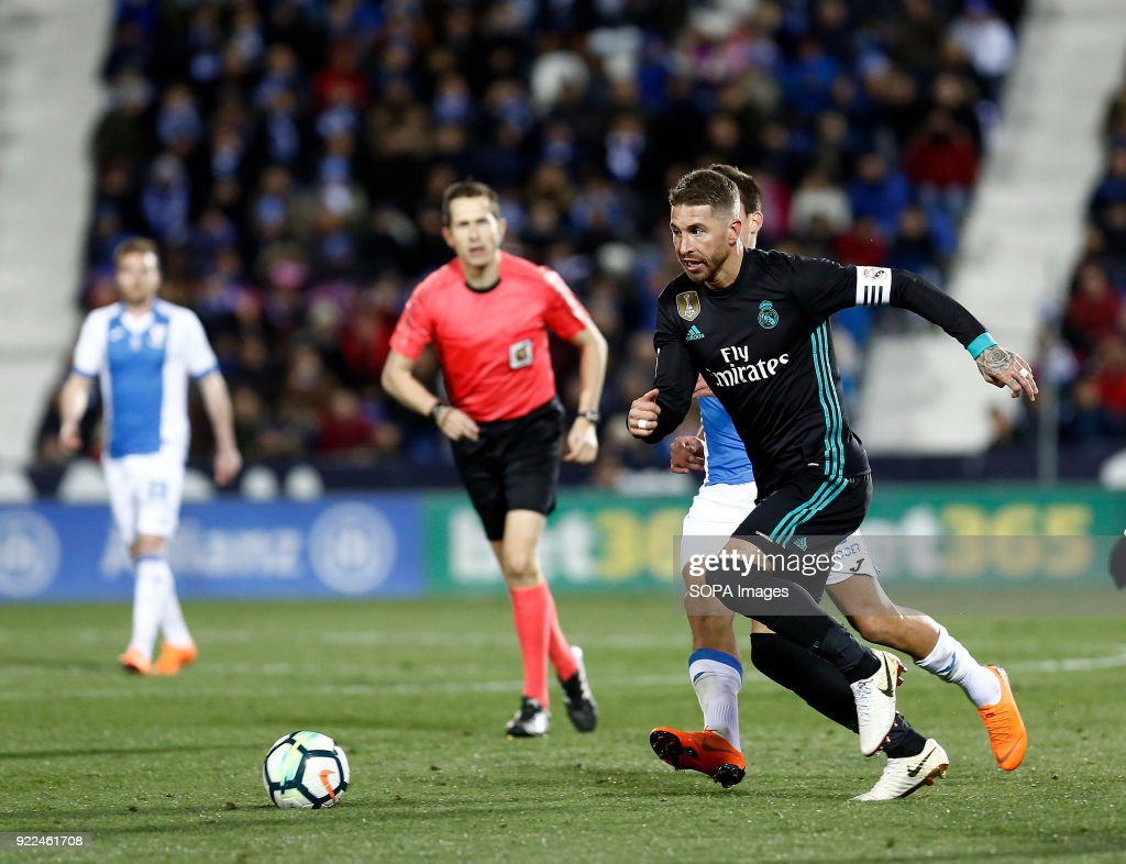 BUTARQUE, LEGANES, MADRID, SPAIN - : Sergio Ramos (Real Madrid) during the La Liga Santander match between Leganes vs Real Madrid at the Estadio Butarque. Final Score Leganes 1 Real Madrid 3.