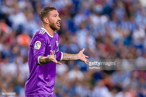 Sergio Ramos during the match between RCD Espanyol vs Real Madrid for the round 4 of the Liga Santander played at RCD Espanyol Stadium on 18th Sep...