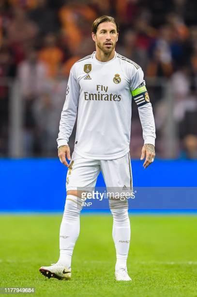 Sergio Ramos Garcia of Real Madrid CF during the UEFA Champions League group A match between Galatasaray AS and Real Madrid at Turk Telekom Stadyumu...