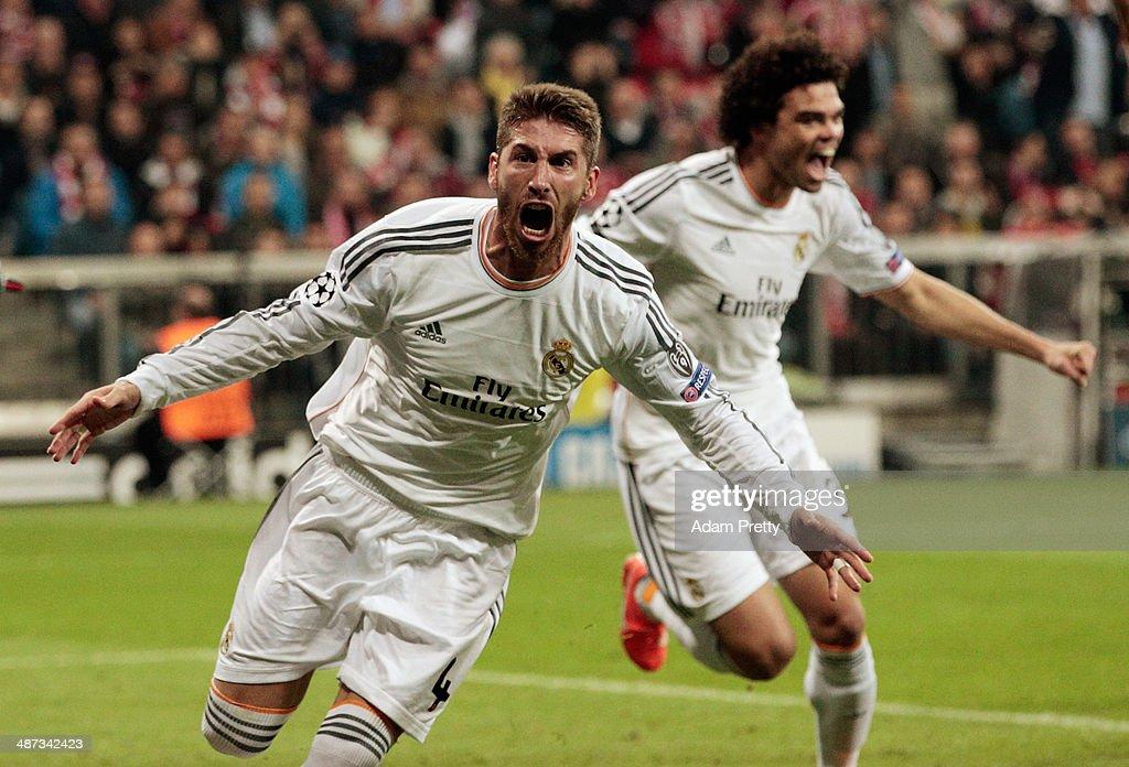 FC Bayern Muenchen v Real Madrid - UEFA Champions League Semi Final : Nyhetsfoto