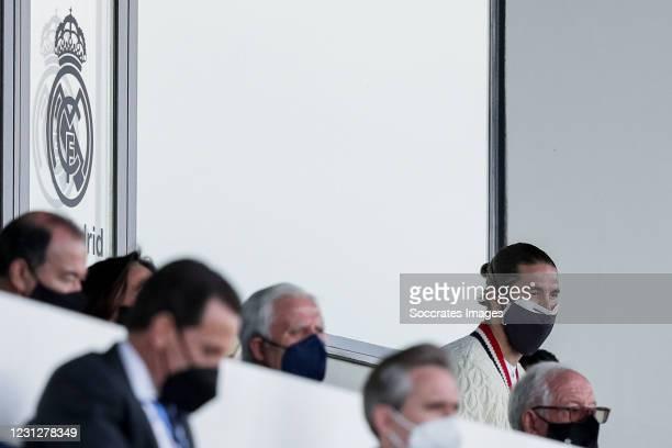 Sergio Ramos of Real Madrid during the La Liga Santander match between Real Madrid v Valencia at the Estadio Alfredo Di Stefano on February 14, 2021...