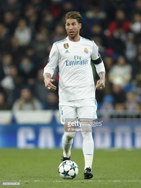 Sergio Ramos of Real Madrid during the UEFA Champions League group H match between Real Madrid and Borussia Dortmund on December 06 2017 at the...