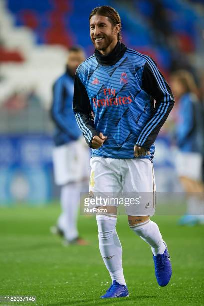 Sergio Ramos of Real Madrid during the warmup before the Liga match between SD Eibar SAD and Real Madrid CF at Ipurua Municipal Stadium on November 9...