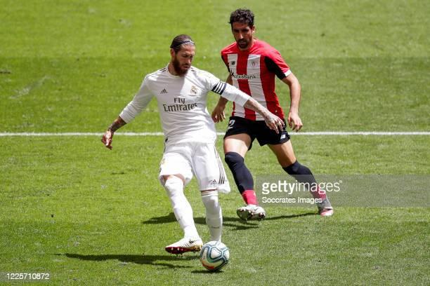 Sergio Ramos of Real Madrid, Raul Garcia of Athletic Bilbao during the La Liga Santander match between Athletic de Bilbao v Real Madrid at the...